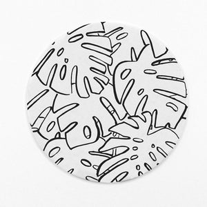Monstera Letterpress Coasters (Set of 6)