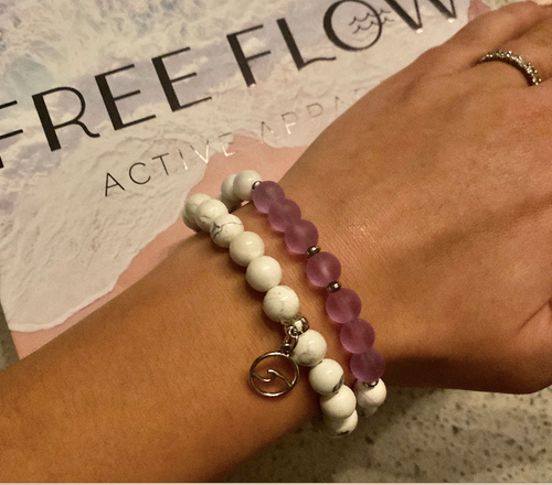 Free Flow Recycled Glass Bracelet