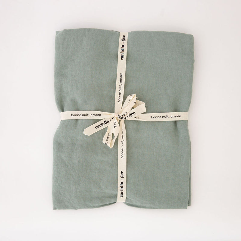 Mini Flat Sheet in Sage