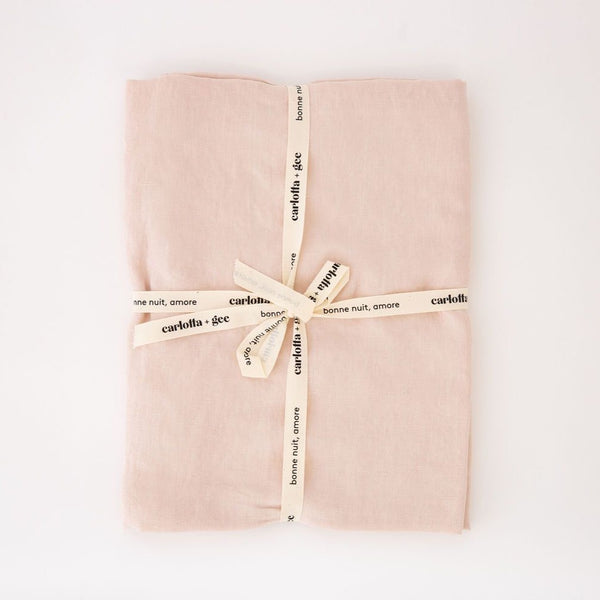 Mini Flat Sheet in Blush