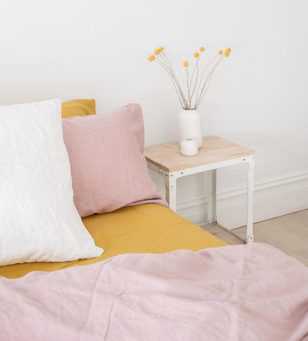 Fitted Sheet in Ochre