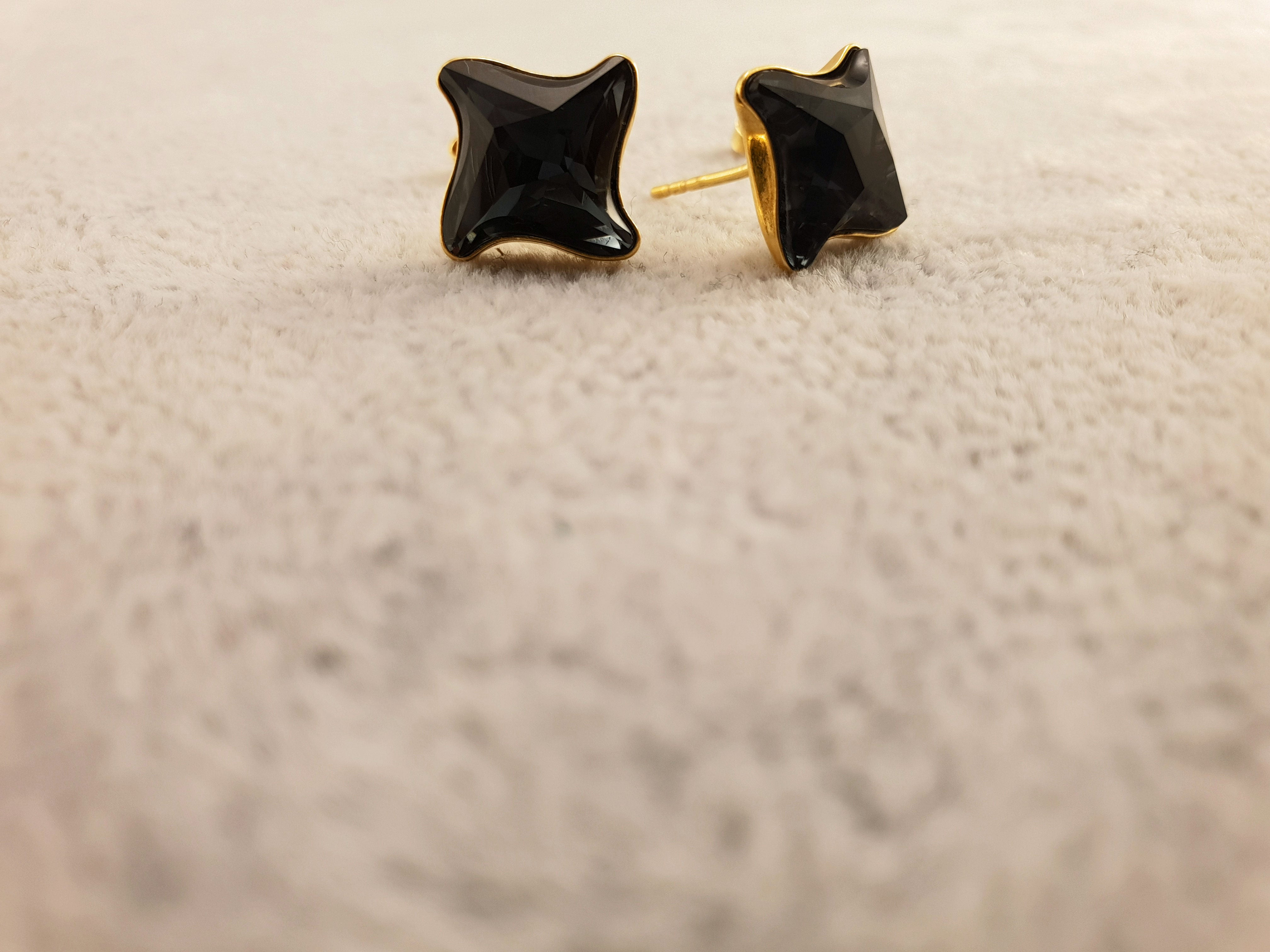 Swarovski Earrings - Graphite - By Janine Jewellery