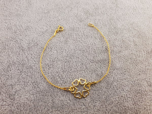 GOLD PLATED 24K - SIX HEARTS - By Janine Jewellery