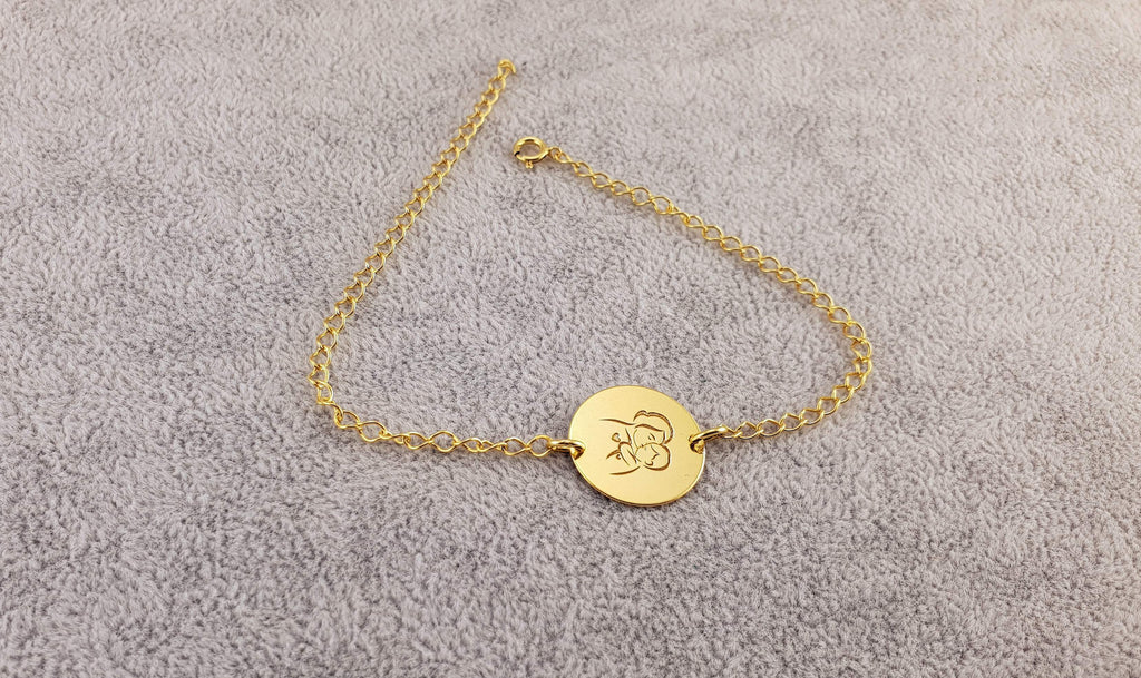 GOLD PLATED 24K BRACELET - MOTHER AND CHILD - 925 Silver Collection - By Janine Jewellery