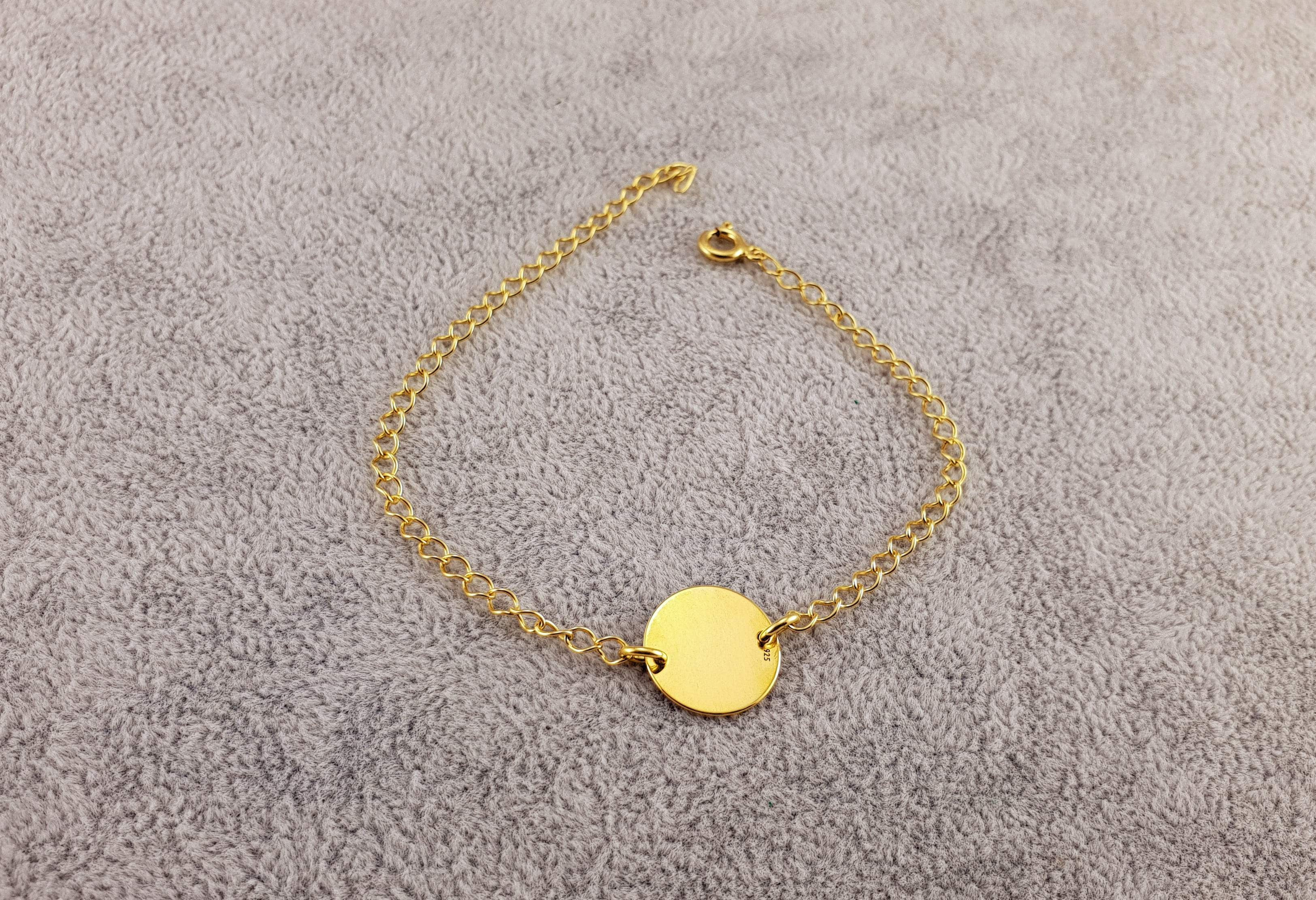 GOLD PLATED 24K BRACELET - GOLDEN COIN - By Janine Jewellery