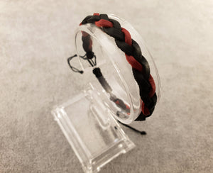 Woven Leather | BLACK AND RED - Woven Leather - By Janine Jewellery