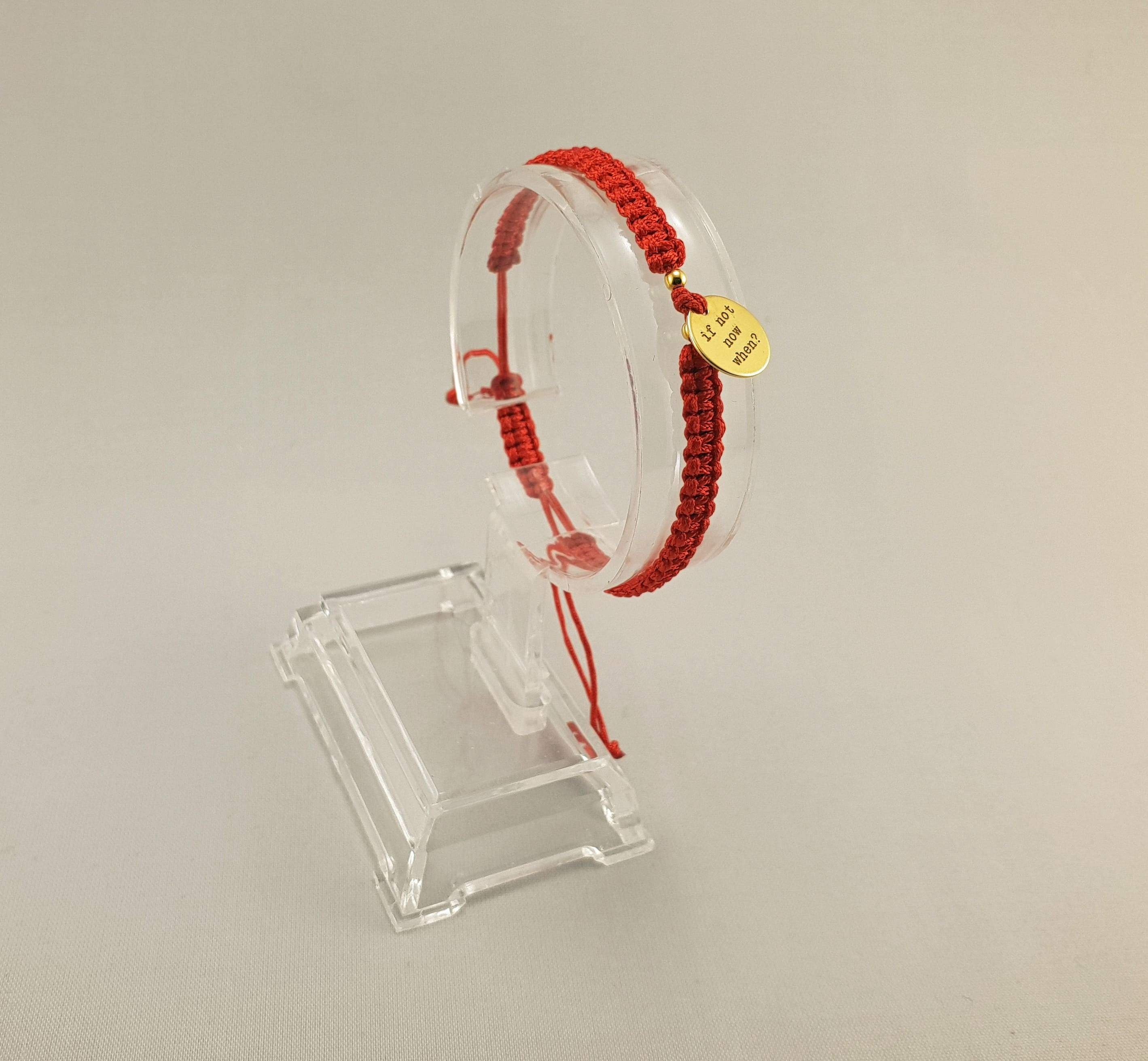 Woven Bracelet - IF NOT NOW WHEN ? | RED - By Janine Jewellery