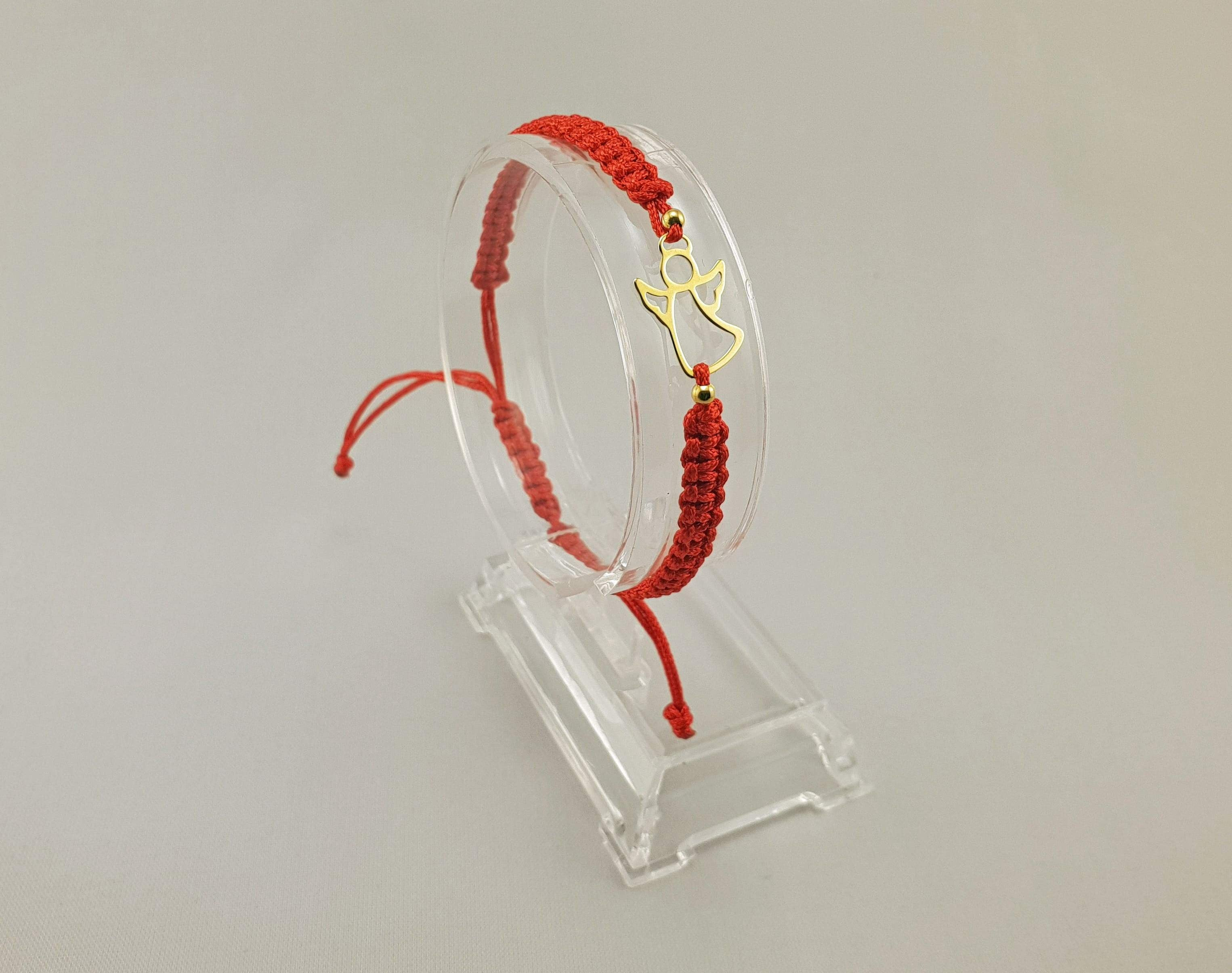 Woven Bracelet - GOLD ANGEL | RED - By Janine Jewellery
