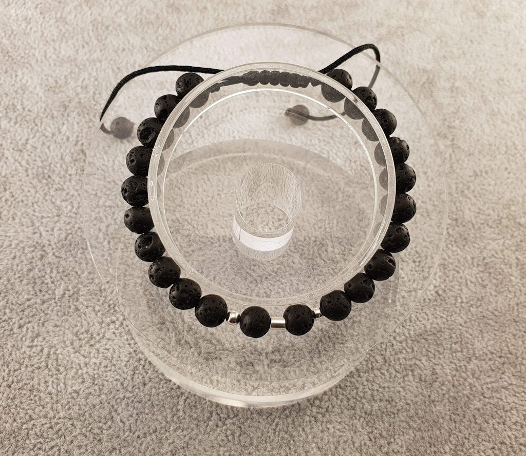 Lava beads - Black - By Janine Jewellery