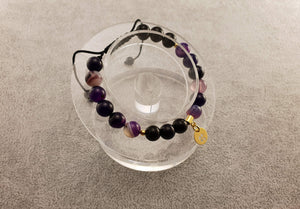 Agate Beads - Clover Coin 2 - Beaded Bracelets - By Janine Jewellery