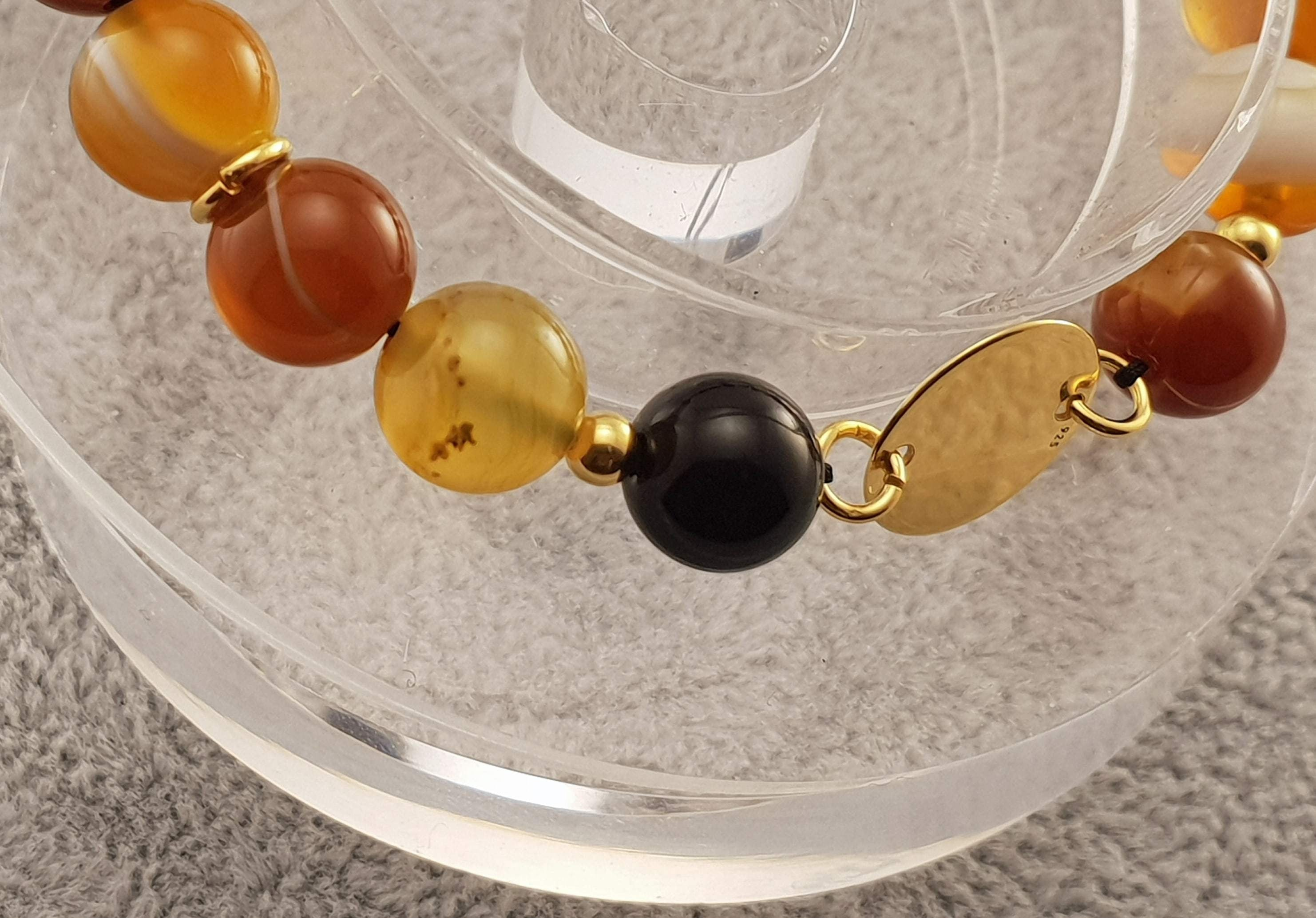 Agate beads - Round - By Janine Jewellery