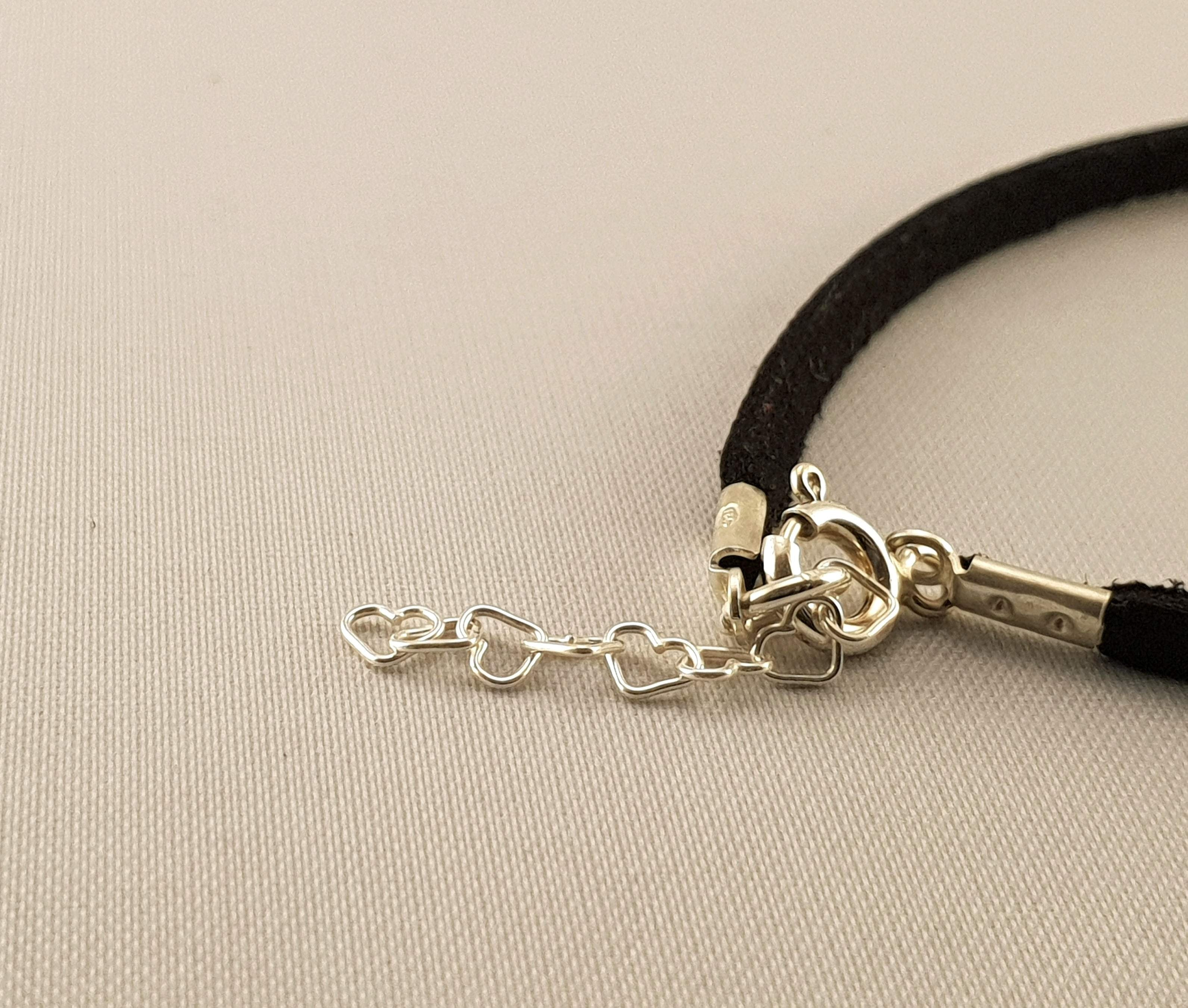Leather Bracelet - Infinity Silver Heart - Leather Bracelet - By Janine Jewellery