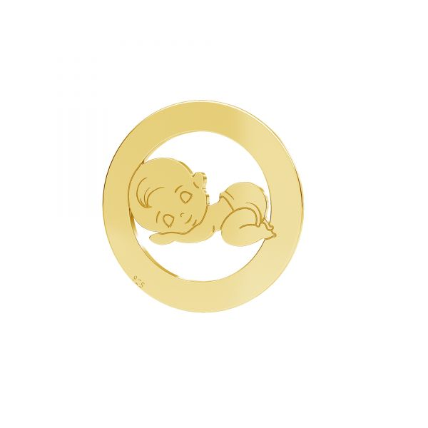 Boy, Sterling Silver 925,Gold Plated 24K