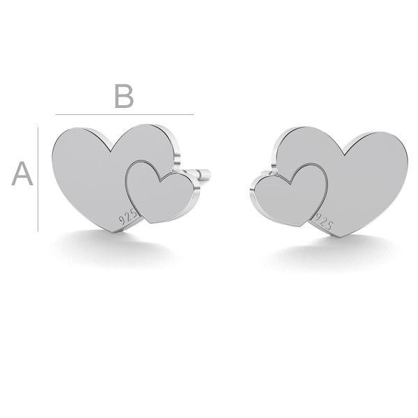 Heart  Earrings - By Janine Jewellery