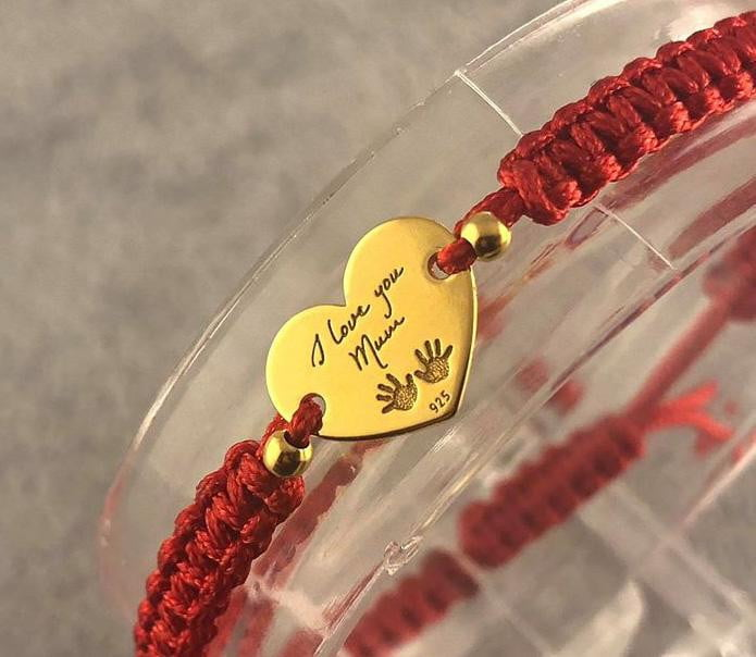 Woven Bracelet - I love you Mum - By Janine Jewellery