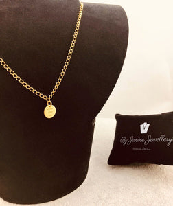 GOLD PLATED 24K NECKLACE - NEVER GIVE UP - 925 Silver Collection - By Janine Jewellery