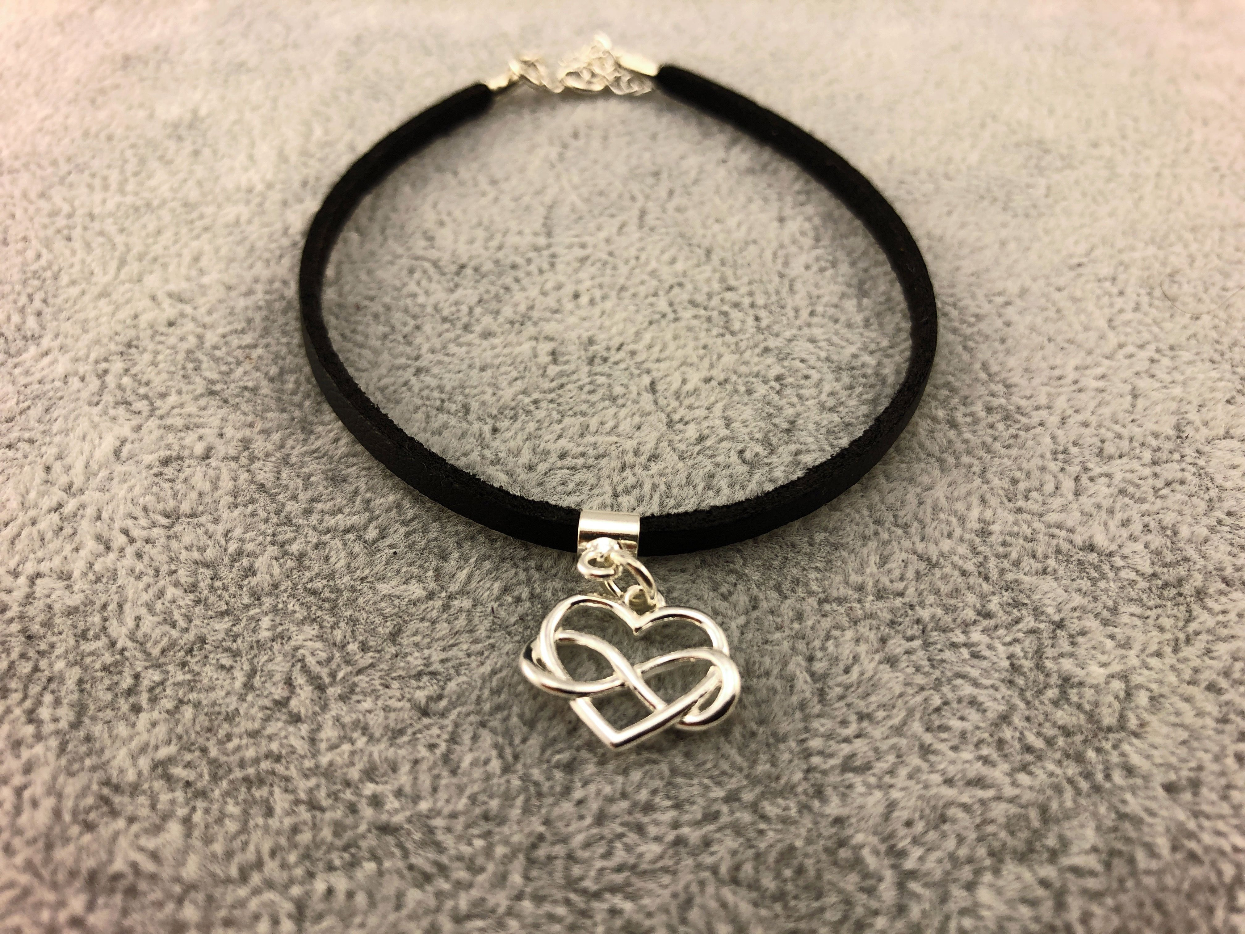 Leather Bracelet - I love you forever - By Janine Jewellery