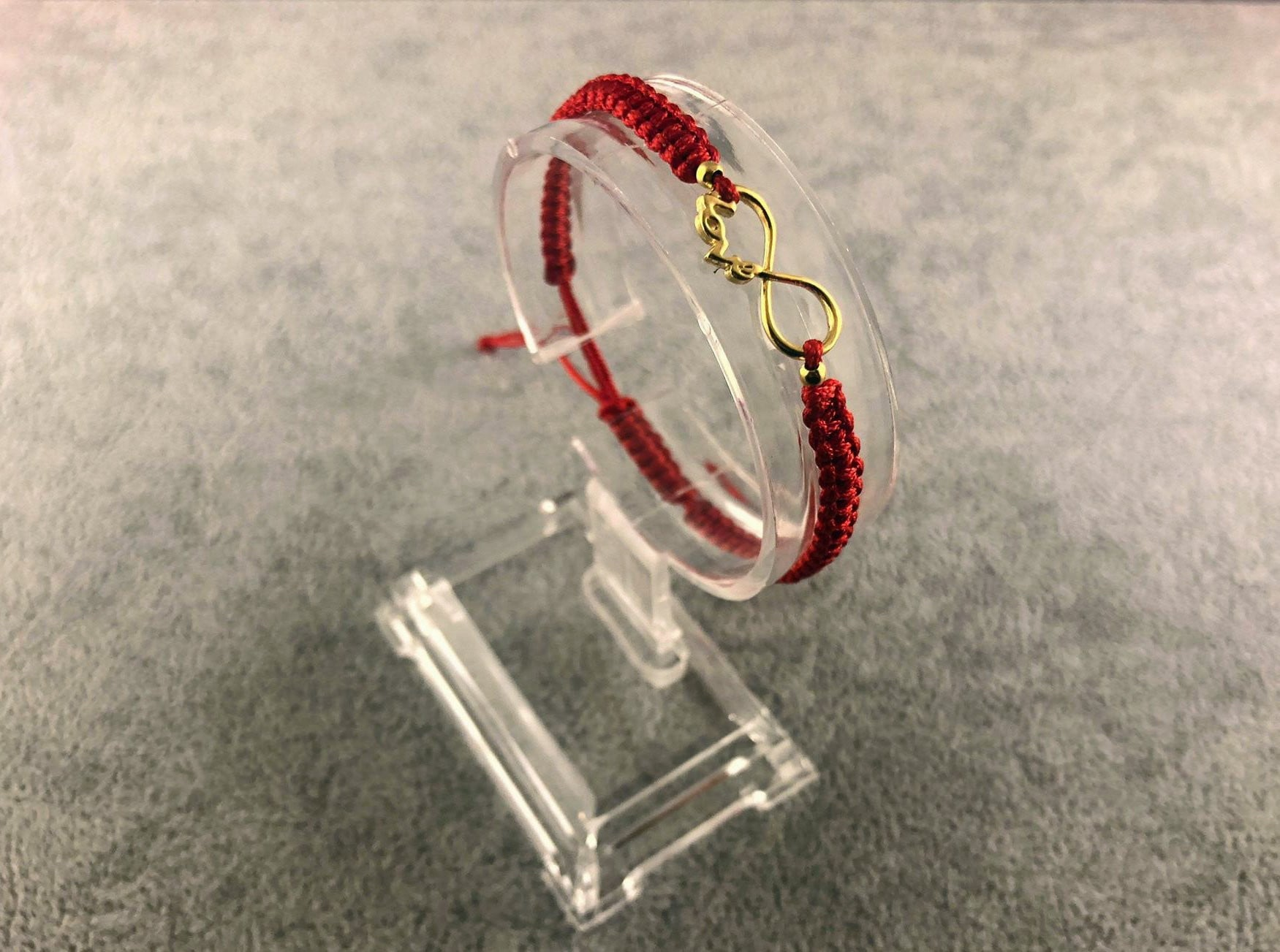 Woven Bracelet - Infinity LOVE | RED - By Janine Jewellery