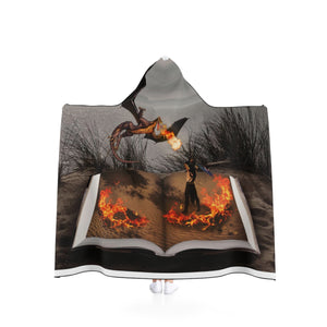 """Fire of Reading"" Hooded Blanket"