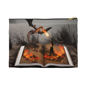 """Fire of Reading"" Pouch"
