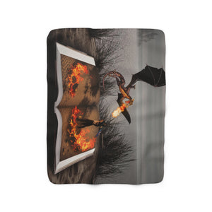 """Fire of Reading"" Sherpa Fleece Blanket"