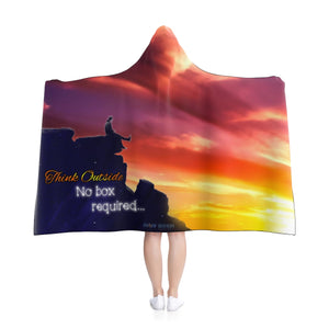 """Think Outside"" Hooded Blanket"