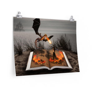 """Fire of Reading"" Premium Matte horizontal posters"