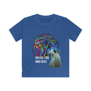 """Unleash Your Inner Beast"" Kids Softstyle Tee"