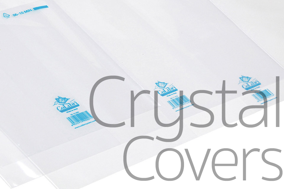 An image of CoLibri Systems North America's transparent plastic CrystalClear™ book covers.