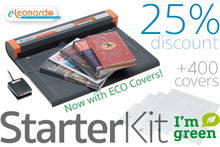 CoLibri e-Leonardo Book Covering System Starter Kit - Includes 400+ ECO Book Covers