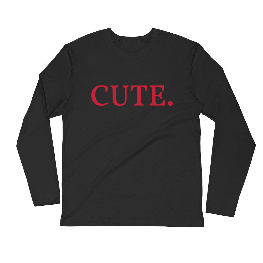 CUTE Long Sleeve Fitted Crew