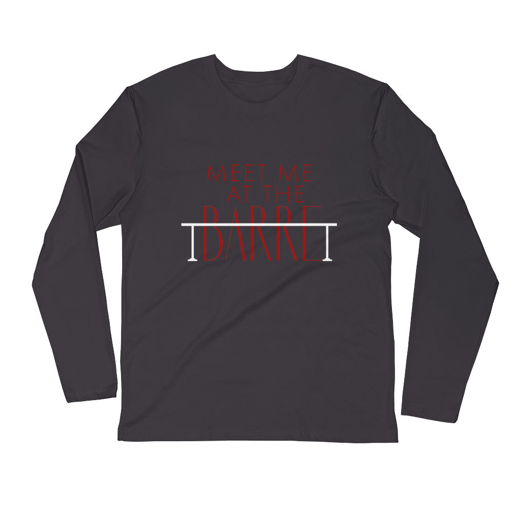Meet Me At the Barre Long Sleeve Fitted Crew