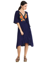 Load image into Gallery viewer, Rena Love Embroidered Wrap Dress :