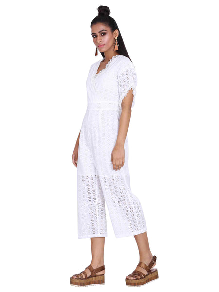 Rena Love Broderie White Jumpsuit