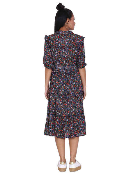 Rena Love Busy Printed Flared Dress