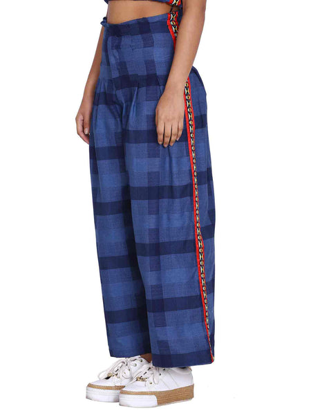 Rena Love Side Jacquard Tape Trouser