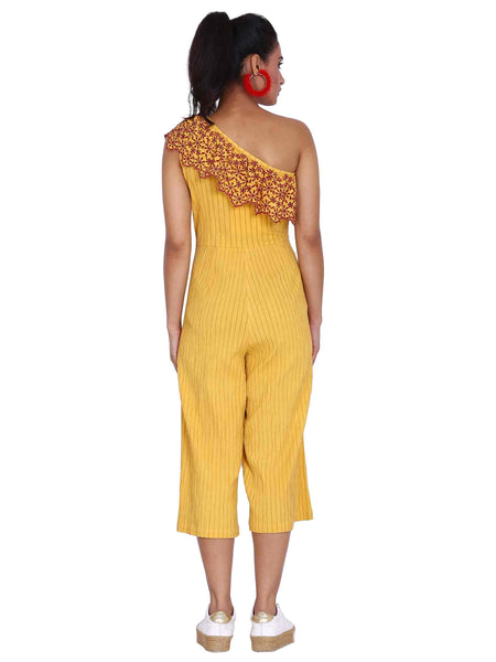 Rena Love Sunkissed One Shoulder Jumpsuit