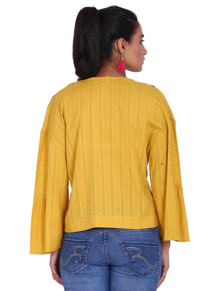 Rena Love Yellow Flared Top