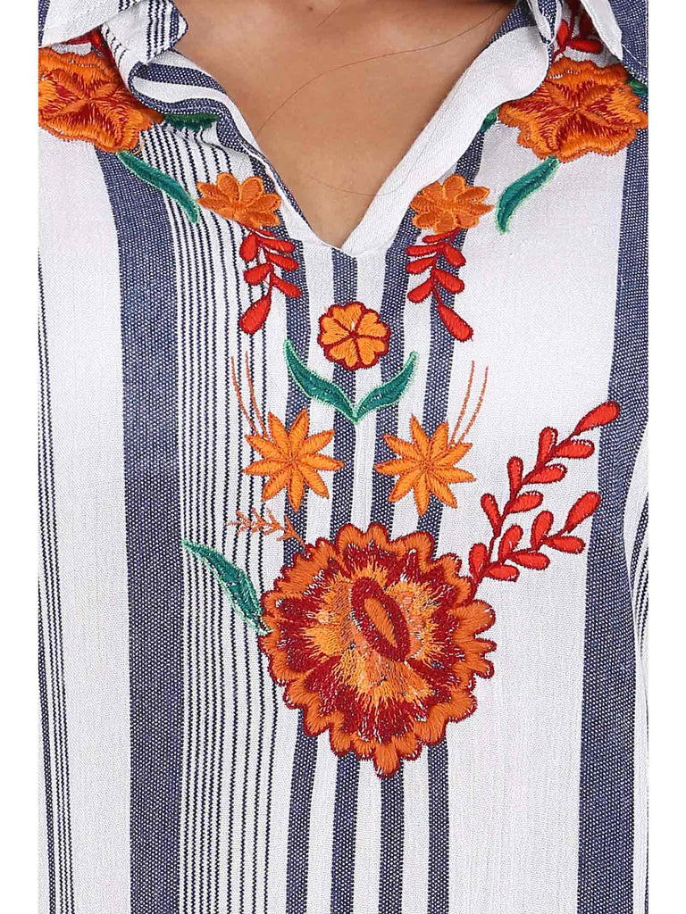 Embroidery Printed Blouse