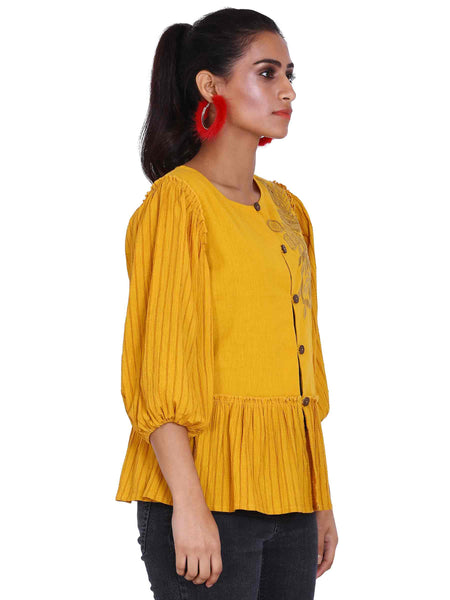 Rena Love Sunshine Peplum Shirt Blouse