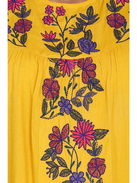 Rena Love Charm Floral Embroidered Blouse