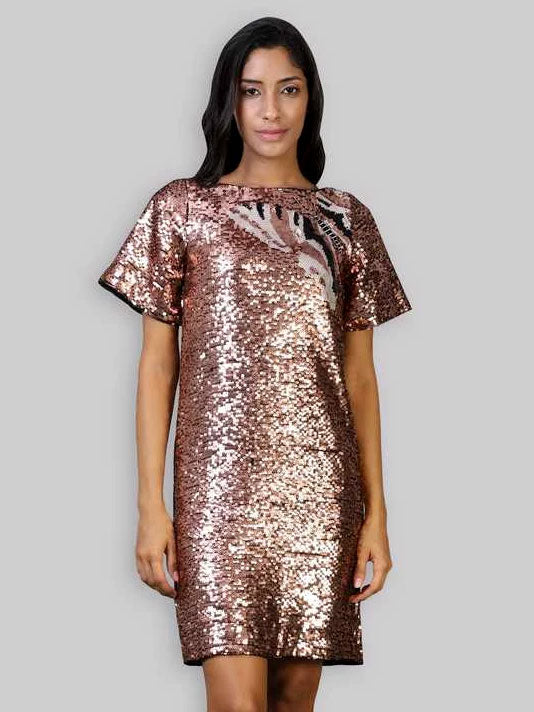 Butterfly  Sequined Dress