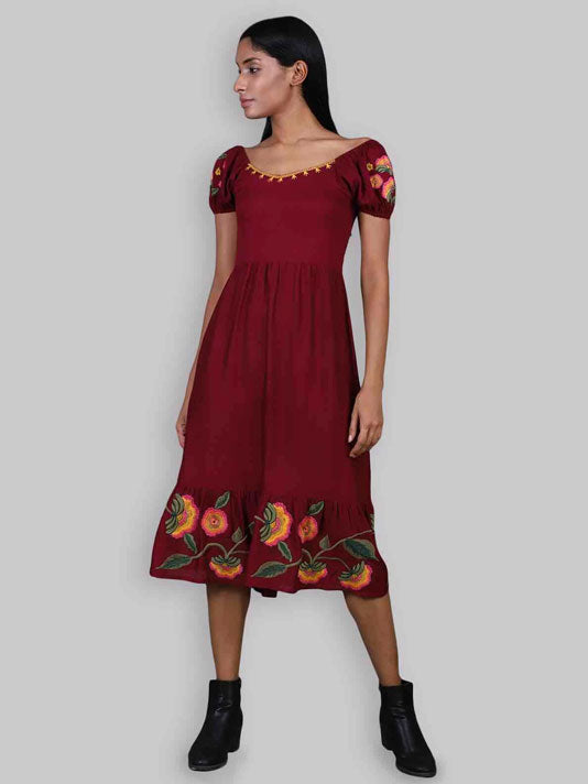 Danielle Embroidered Dress