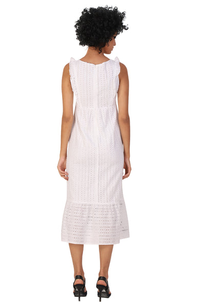Rena Love Broderie White Embroidered Bloom Dress