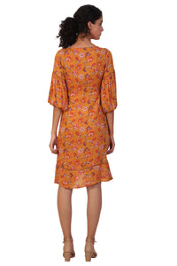 Rena Love Printed Wrap Dress :