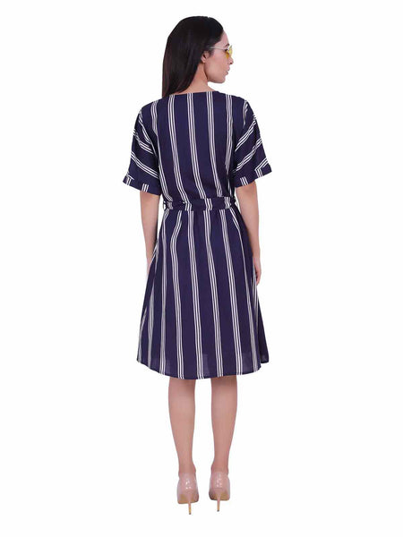 Rena Love Navy Stripes Dress