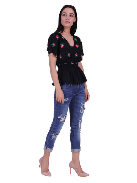 Rena Love Dancing till Dawn Embroidery Top