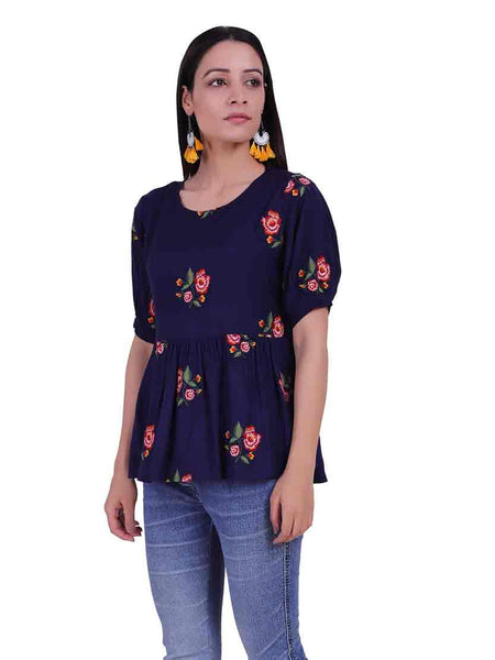 Rena Love Veronica Embroidered blouse