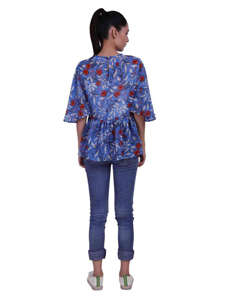 Rena Love Skyhigh Printed Top