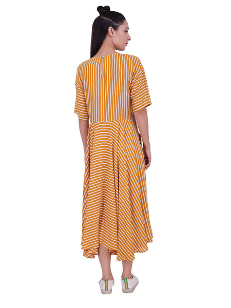 Rena Love All over Mixed Stripes Dress